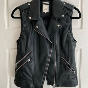 ZARA leather biker vest